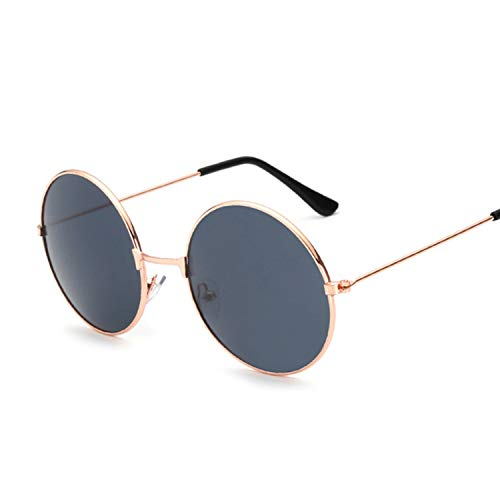 New Fashion Candy Vintage Round Mirror Sunglasses Women Luxury Black Sun Glasses,GoldGray