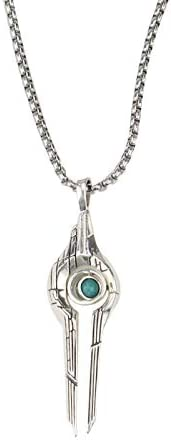 Fashion silver Mass Effect 4 Relay Pendant Necklace Movie Jewelry Gifts | Amazon.com