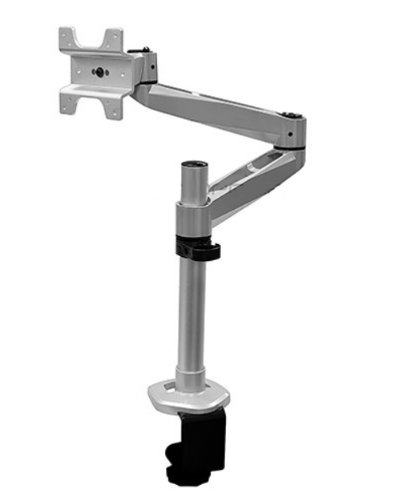 Mount-It! Full Motion Aluminum Articulating Dual Arm Computer Monitor Desk Mount for Apple Displays, Silver (MI-33116A) by Mount-It!