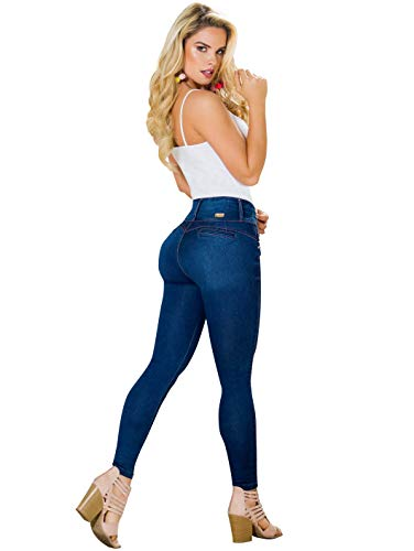 74553a54437 Rose Women Skinny Butt High Waisted Jeans Pantalones Colombianos Levanta  Cola