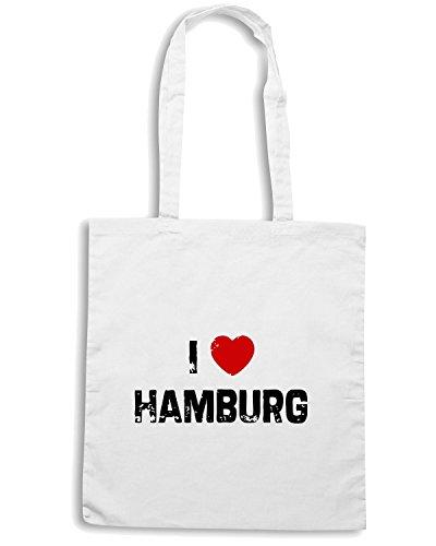 T-Shirtshock - Bolsa para la compra TLOVE0003 i hamburg Blanco