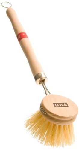 Lola Tampico Bristle Wood Vegetable and Dish Brush