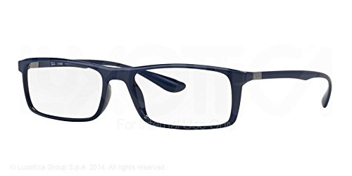 RAY BAN Eyeglasses RX 7035 5431 Shiny Dark Blue 57MM