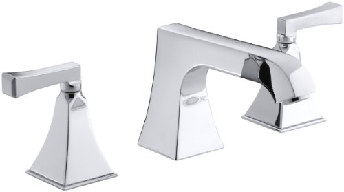 KOHLER K-T469-4V-CP Memoirs Deck-Mount High-Flow Bath Faucet Trim with Stately Design and Deco Lever Handles, Valve Not Included, Polished (Cp Non Diverter Valve)