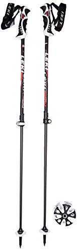 Leki Erwachsene Skistock Peak Vario Speed Lock, Base Color: Black Design: White-Anthr-Red, S, 634-6762