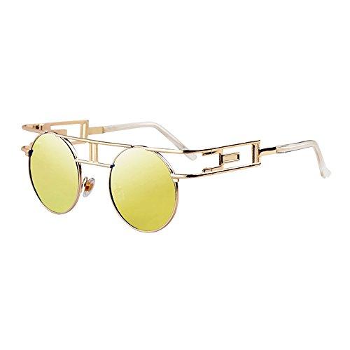 41ed3da660 Envio gratis LVZAIXI Estilo retro Steampunk inspirado redondo círculo metal  polarizado gafas de sol ( Color