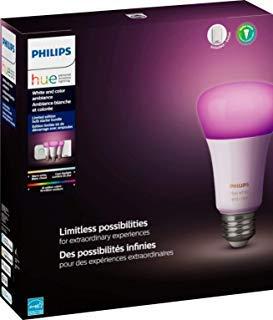 - Philips Hue Phillips-HUE LED Lightbulbs 3-Bulb Starter Kit All Colrs in Rainbow & White 4 Pound