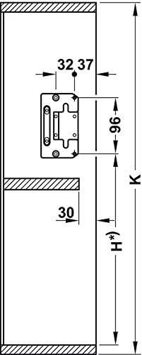 780-840mm// 7-13kg Set Completo Heimwerkertools Kesseb/öhmer Huwilift Armatura Alta Pieghevole Senso Cerniera Pattina Raccordi