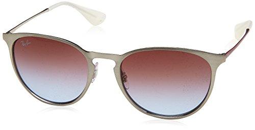 Ray-Ban Erika Metal Round Sunglasses, Brusched Silver, 54 - Round Erika Sunglasses