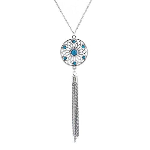 Zealmer Simple Silver Pendant Necklace