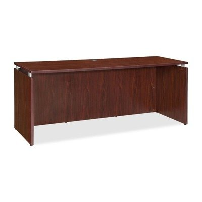 Lorell LLR68688 Executive Desk, Mahogany