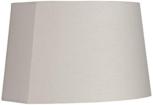 (Ivory Modified Oval Lamp Shade 10/12.5x11/15x10)