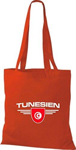 Tela Land Túnez De Rojo Bolsa Shirtstown Escudo Países nPznfF