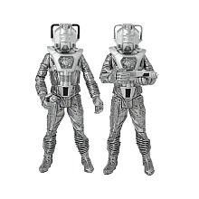 "Doctor Who ""Silver Nemesis"" Cyberleader and Cyberman Figure Set of 2"