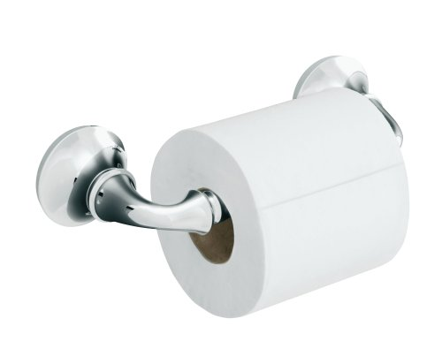 KOHLER K-11374-CP Forte Sculpted Toilet Tissue Holder, Polished Chrome