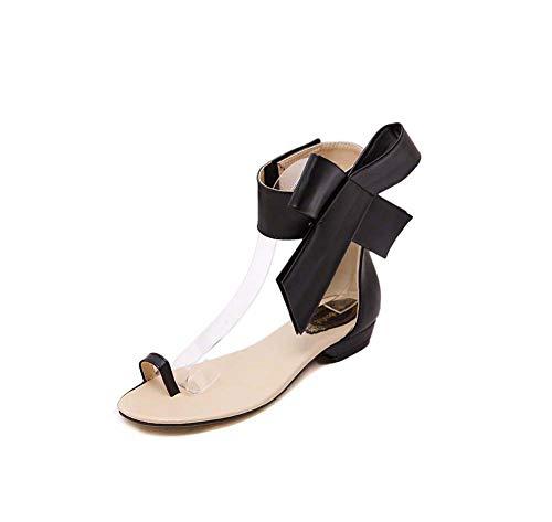 Hueco Dedo Del Sandalias Flor De Nueva Planas Verano Gran Pie Ghfjdo Las Black Velcro Bajos Zapatos Abren Tamaño Mujeres Sandalias El Tacones wqCxZIfp