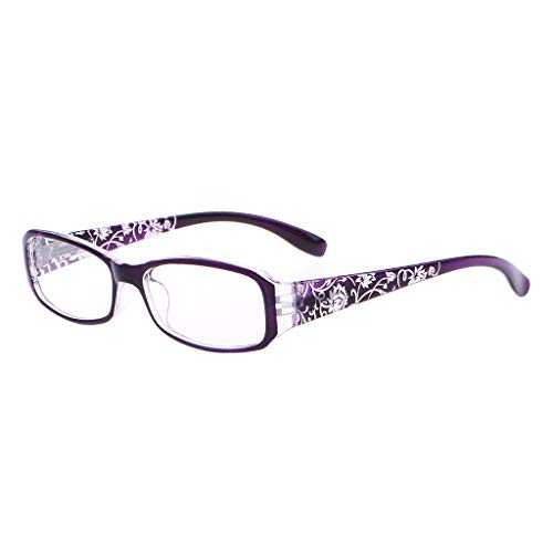 - chuwa Reading Glasses Women Spring Hinge Flower Print Resin Blue Light Blocking Eye Glasses Presbyopic +1.0 ~ +4.0