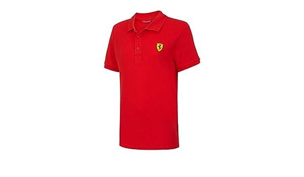 Scuderia Ferrari Polo clásico de niños edades 7 - 14 años (128 ...