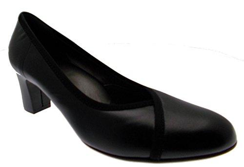 art D5077 decoltè classico pelle nero scarpa donna
