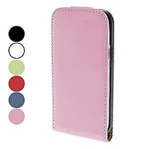 SOL ships in 48 hours PU Leather Case for Samsung Galaxy S4 mini I9190 (Assorted Colors) , White