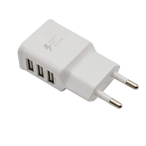 YENJO 3 USB Ports Fast Wall Charger Travel EU/US Plug Power Adapter for Mobile Phon Wall Chargers