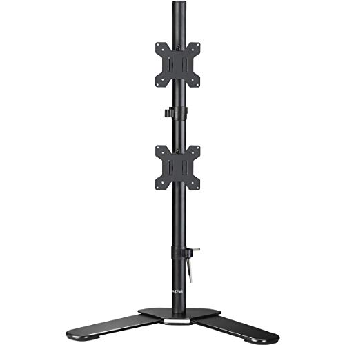 Suptek Dual LED LCD Monitor Stand up Free-Standing Desk Mount Extra Tall 31.5