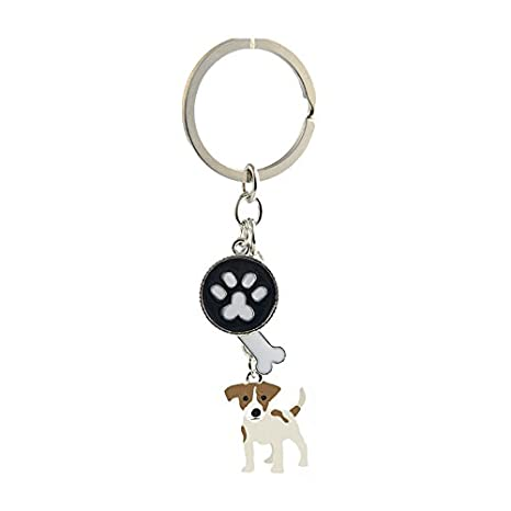 Amazon.com: Llavero de metal con diseño de cachorro de perro ...
