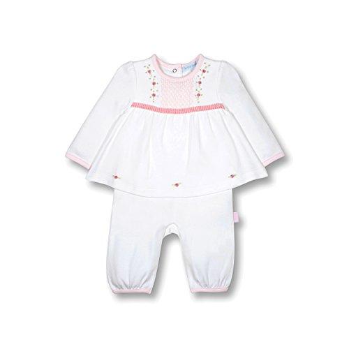 le top Bebe Treasured Baby Girl Rosebud Jumpsuit Onesie With Faux Skirt-3M (Rosebud Outfit)