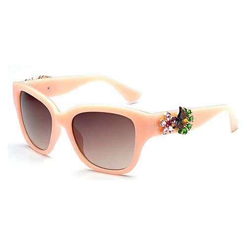 Nuances Protection Rose Frame Lady Lunettes Conduire Designer UV400 nouveauté Vintage Plage Flower la Soleil la Full Brillants Crystal Vacances pour KOMEISHO Couleur de d'été Rose wqP6tt