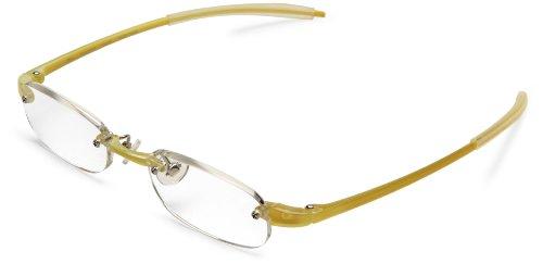 (Visualites 205 Oval Reading Glasses,Lemon Frame/Clear Lens,1.25 Strength,48 mm)