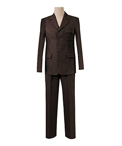 Adults 13th 12th 11th Doctor Series Coat Costume for Halloween (Men L, 10th Brown Suit) ()