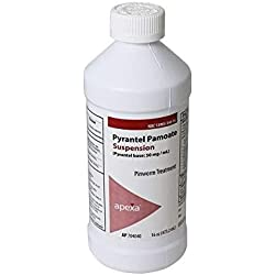 Pyrantel Pamoate Suspension, 50mg / mL, 16 ounce
