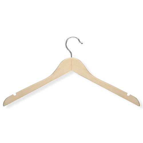 Honey-Can-Do HNGT01212 Basic Shirt Hangers Maple, 20-Pack