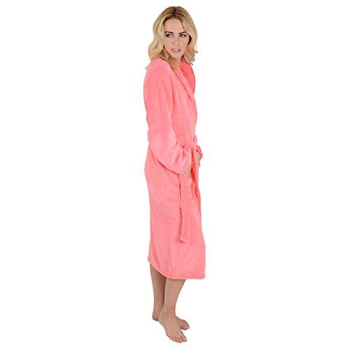 Women Luxury SOFT Bath Robe Housecoat Dressing Gown Bathrobe Tie Belt UK 8-14