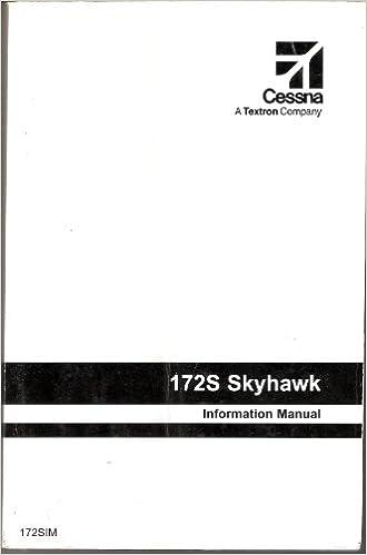 Cessna 172S Skyhawk Information Manual Books