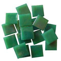 - Jennifer's Mosaics 3/4-Inch Iridized Venetian Style Glass Mosaic Tile, Green, 8-Ounce