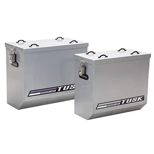 (Tusk Aluminum Dual Sport Adventure Panniers - MEDIUM SILVER)