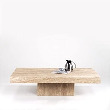 Marble Square Coffee Table Travertine Marble Vigo Amazon Co Uk