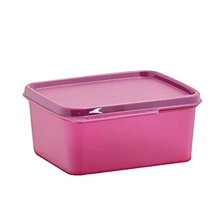 Tupperware Keep Tab Small Plastic Container 500ML Lunch Box Set of 1  Dark Pink