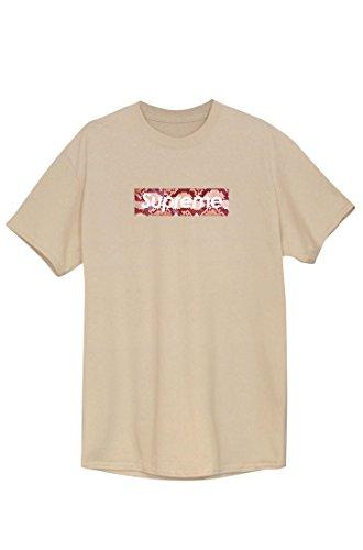 SUPREME Tee T-Shirt Beige Sweat Tee Style Tee Unisex NEU Schlangenmuster weiß