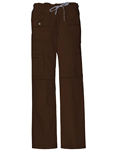 Women's Gen Flex Youtility Cargo Scrub Pants Dickies Health Care Chocolate