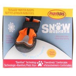 Muttluks SM6O Snow Mushers Dog Boots - Size 6 - Medium, Orange by Muttluks