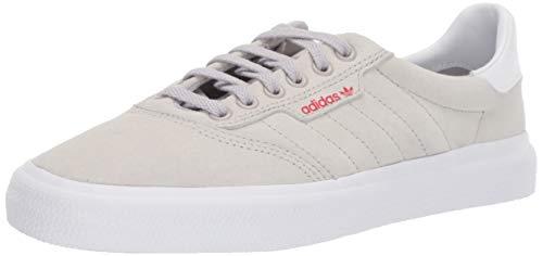 adidas Originals 3MC Sneaker, Grey/White/Scarlet, 7 M US