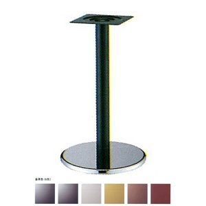 e-kanamono テーブル脚 ラウンドS7450 ベース450φ パイプ101.6φ 受座240x240 クローム/塗装パイプ AJ付 高さ700mmまで 黒紛体塗装 B012CF8DH2 黒紛体塗装 黒紛体塗装