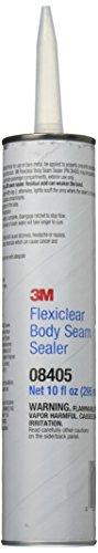 Sealer Brushable Seam - 3M 08405 Flexiclear Body Seam Sealer Cartridge - 10 oz