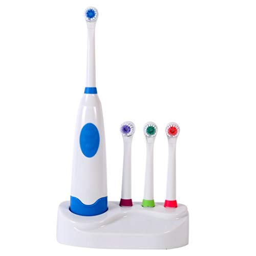 4 Colors Waterproof Soft Electric Toothbrush With Elastic Nozzle Brush Heads Replacement Teeth Whitener Cleaning Oral Hygiene blue