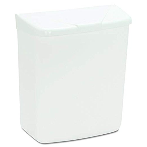 Hospeco Feminine Hygiene Receptacle, White ABS Plastic, 250-201W (2-Pack) by Hospital Specialty Co. (Image #2)