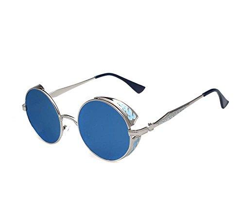 Price comparison product image Retro round individual polarized sunglasses large frame driving color film sunglasses