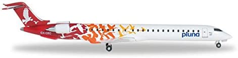Herpa 1:500 Scale Diecast Airliners Pluna CRJ-900 (1:500) Red Tail CX-CRC [並行輸入品]