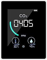 Romacci Medidor de CO 2, detector de dióxido de carbono interno com visor LCD de indução de semicondutor de furo de dissipação de calor Medidor de temperatura e umidade relativa em tempo real